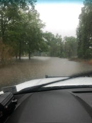 Several streets in Ouachita Parish have closed due to flash flooding.