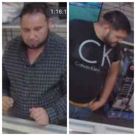 Police are seeking information about two men suspected of stealing $15,000 of jewelry from a pawn shop in Prattville.
