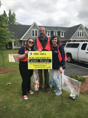 Volunteers with ENCORE Rehab gather trash in Pike Road. The Town of Pike Road's 7th Annual Spring Cleanup is set for April 22-27.