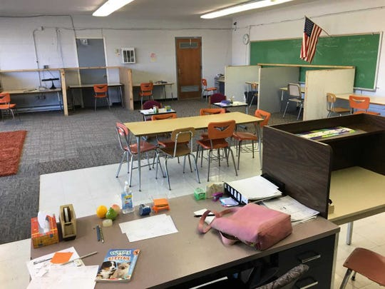 Delaware Christian Academy no longer is using this condemned classroom.