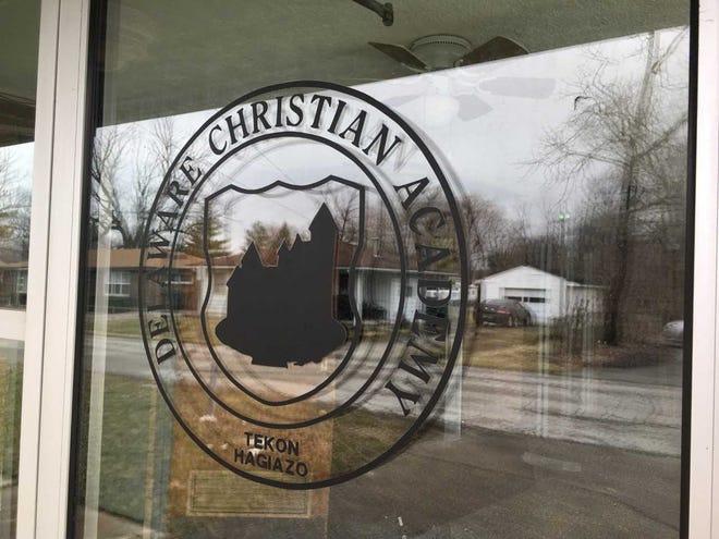 Delaware Christian Academy's front door.