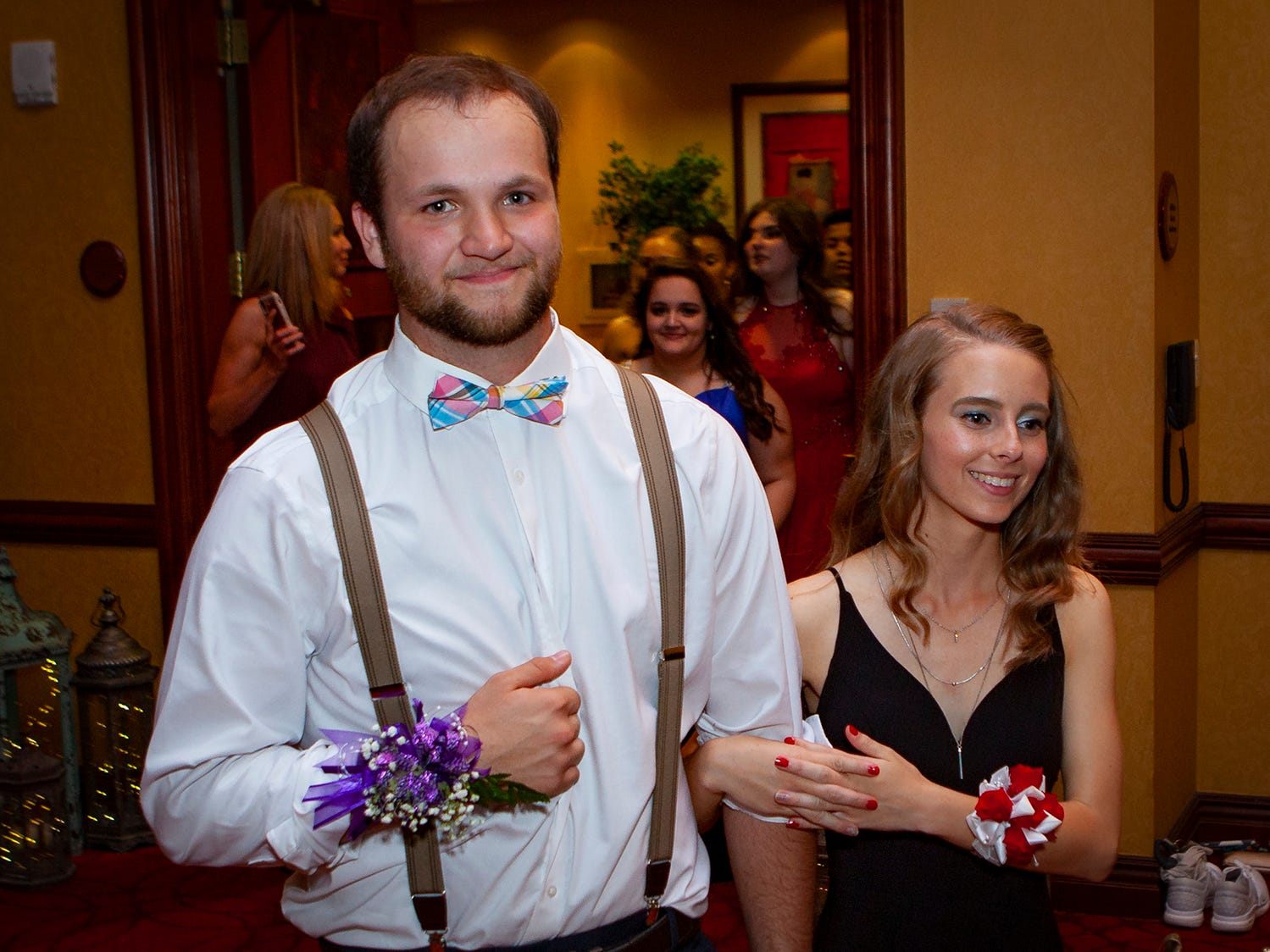 Central Magnet School students participate in the senior walk held during prom on Saturday, April 6, 2019 at Embassy Suites in Murfreesboro.