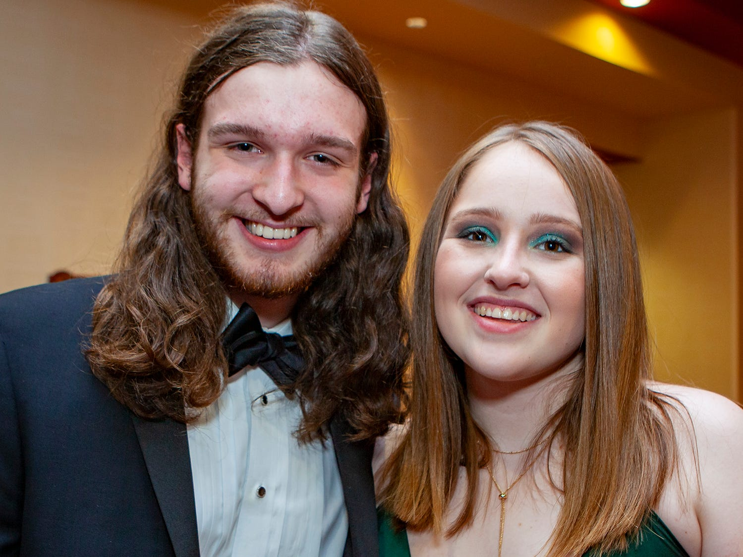 Thomas Dodd and Rylee Harris at Central Magnet School's prom Saturday, April 6, 2019 at Embassy Suites in Murfreesboro.