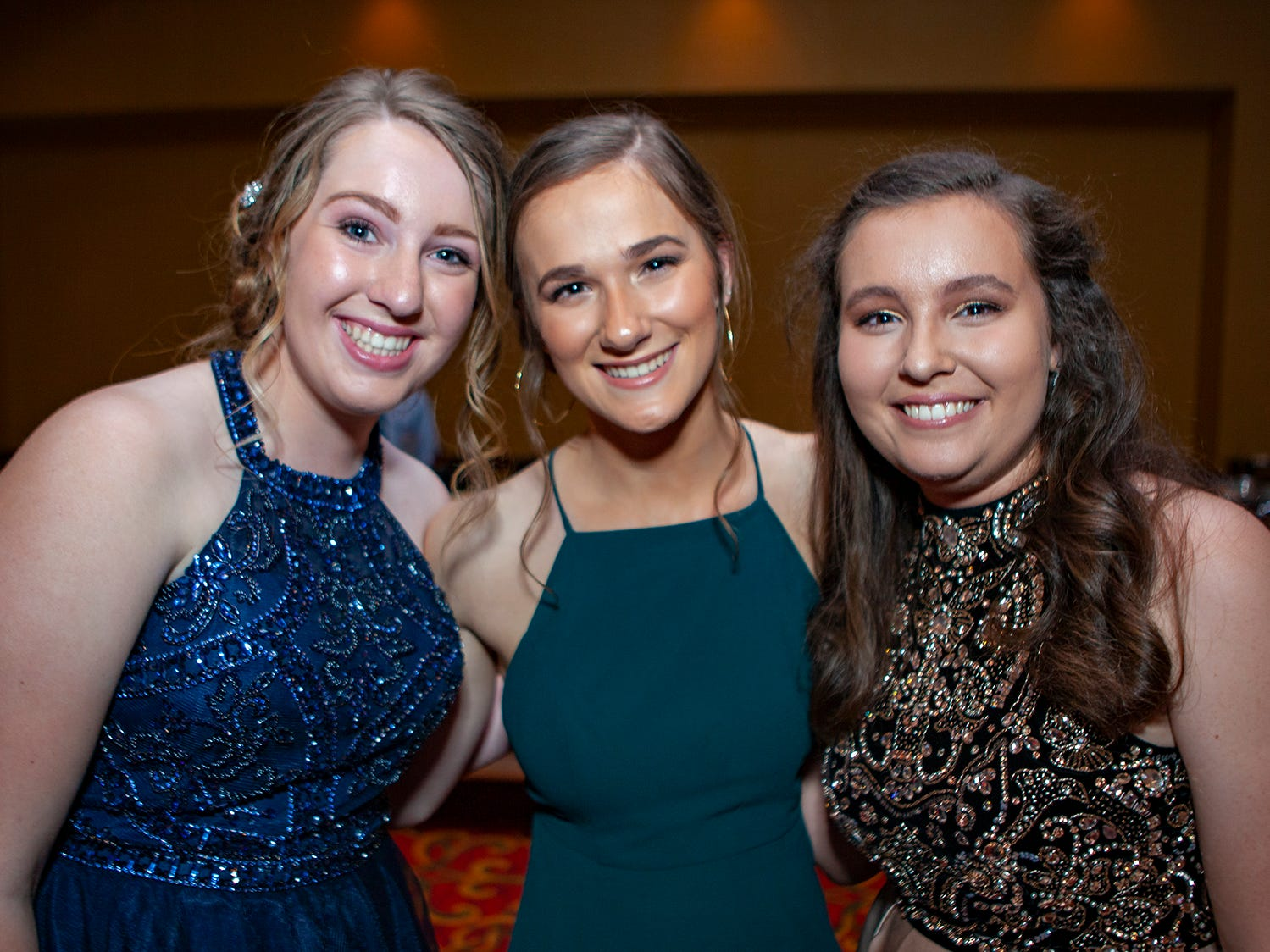 Ellie Stephens, Ella Rosser and Sydney Stains at the Central Magnet School Saturday, April 6, 2019 at Embassy Suites in Murfreesboro.