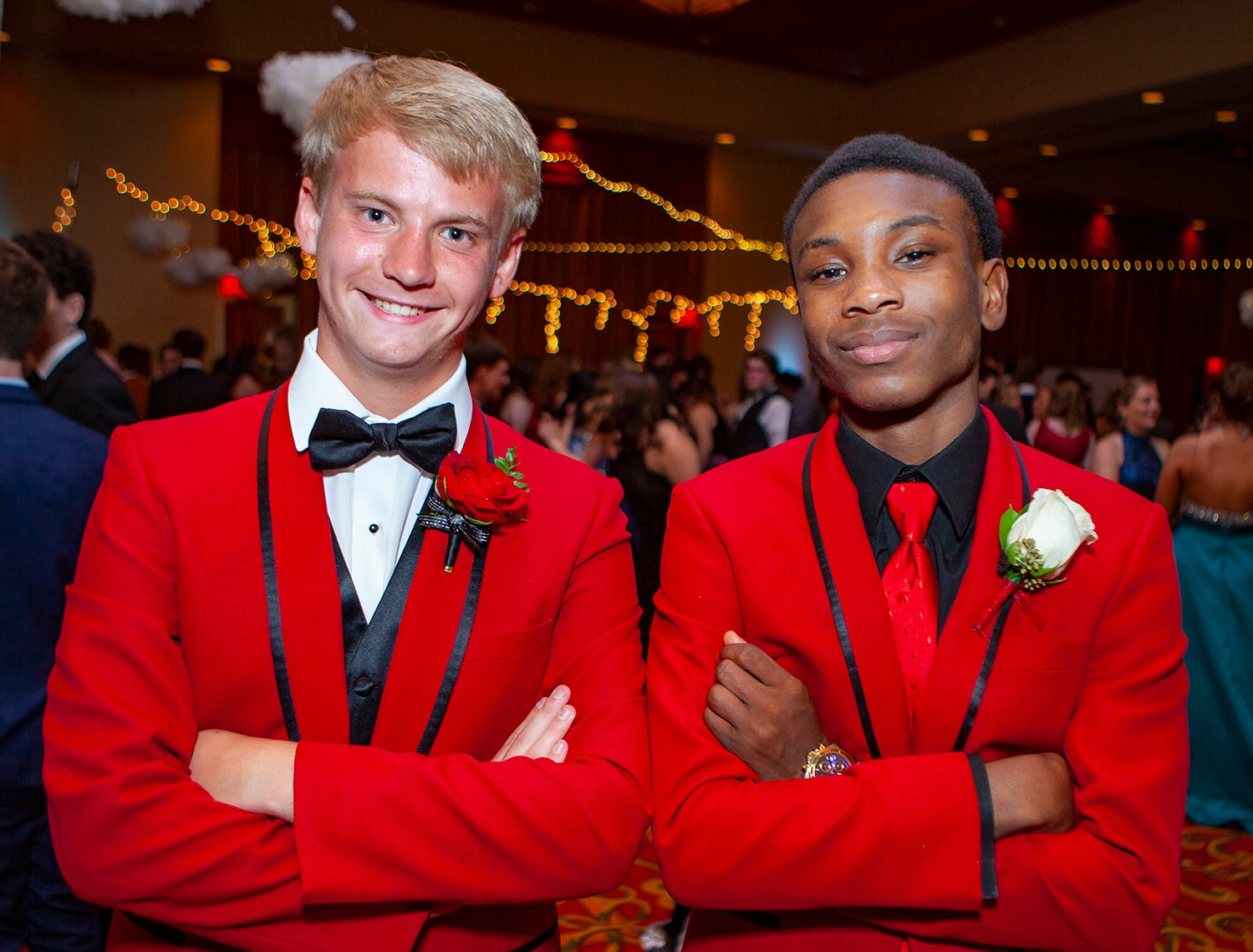 Daniel Brown and Joshua Lee were among those attending Central Magnet School's prom Saturday, April 6 at Embassy Suites in Murfreesboro.