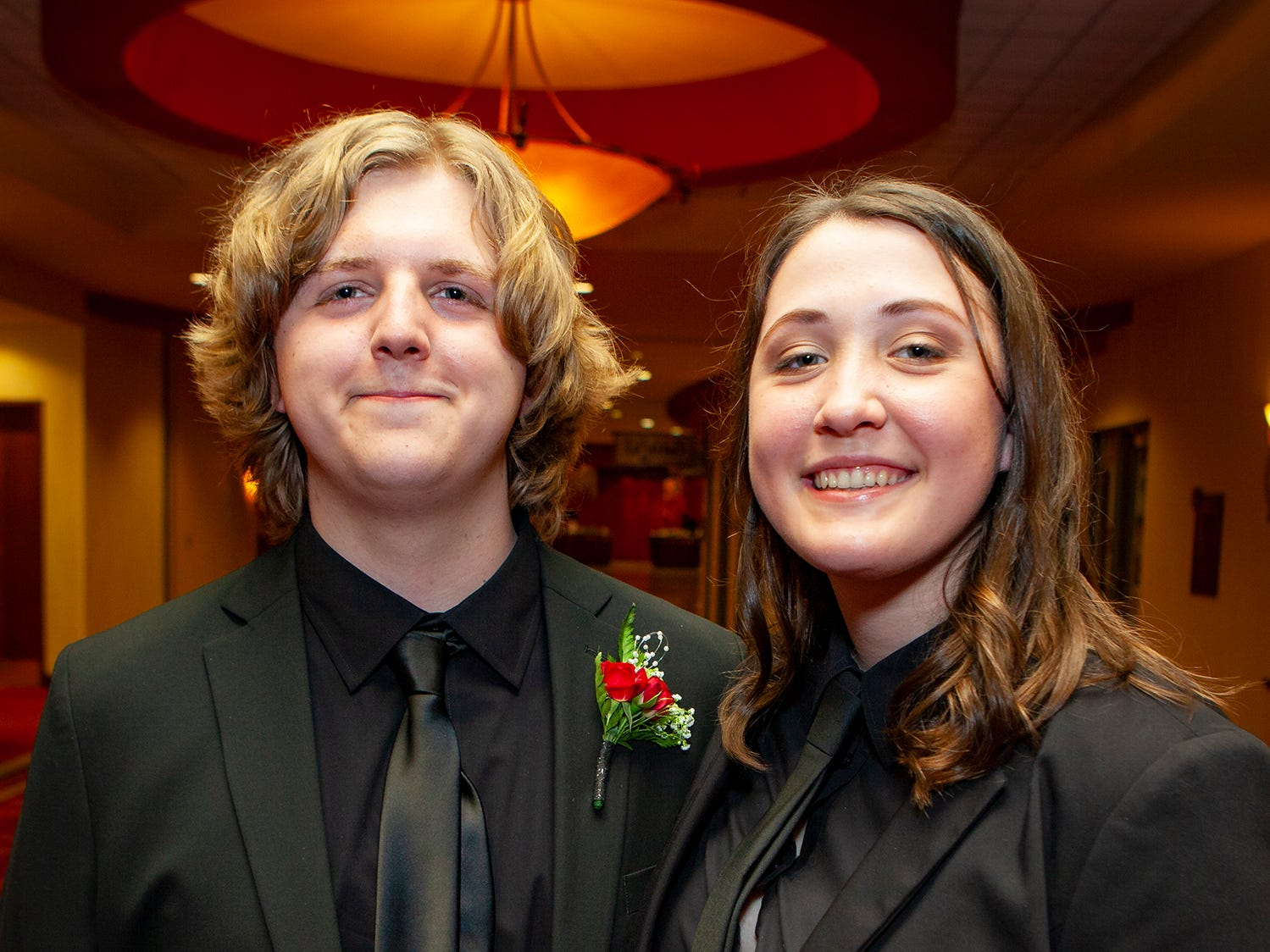 Ben Beauchene and Abbi Knell at Central Magnet School's prom Saturday, April 6, 2019 at Embassy Suites in Murfreesboro.