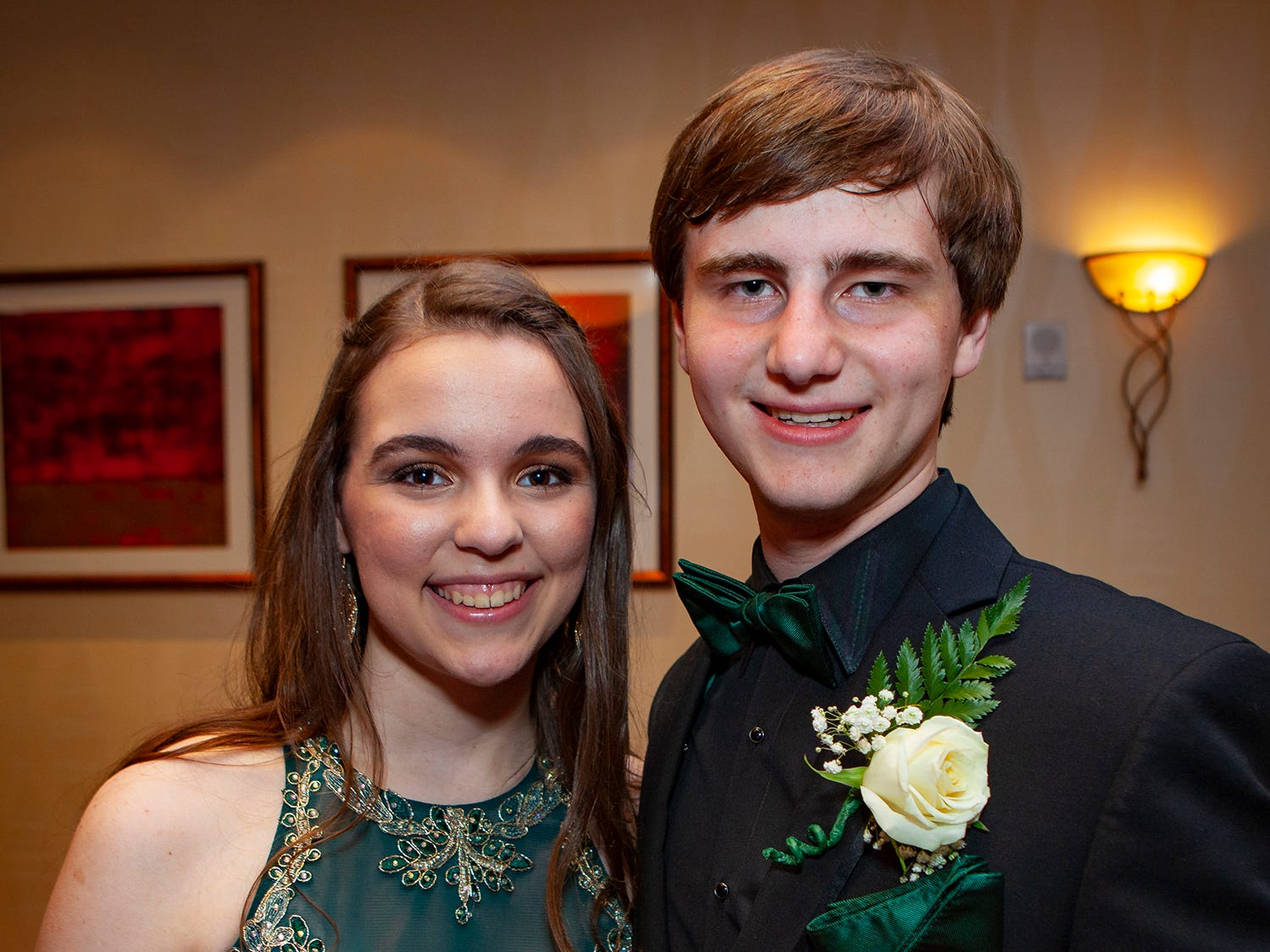 Rebecca Raynor and Matthew Rigsby at Central Magnet School's 2019 prom Saturday, April 6 at Embassy Suites in Murfreesboro.