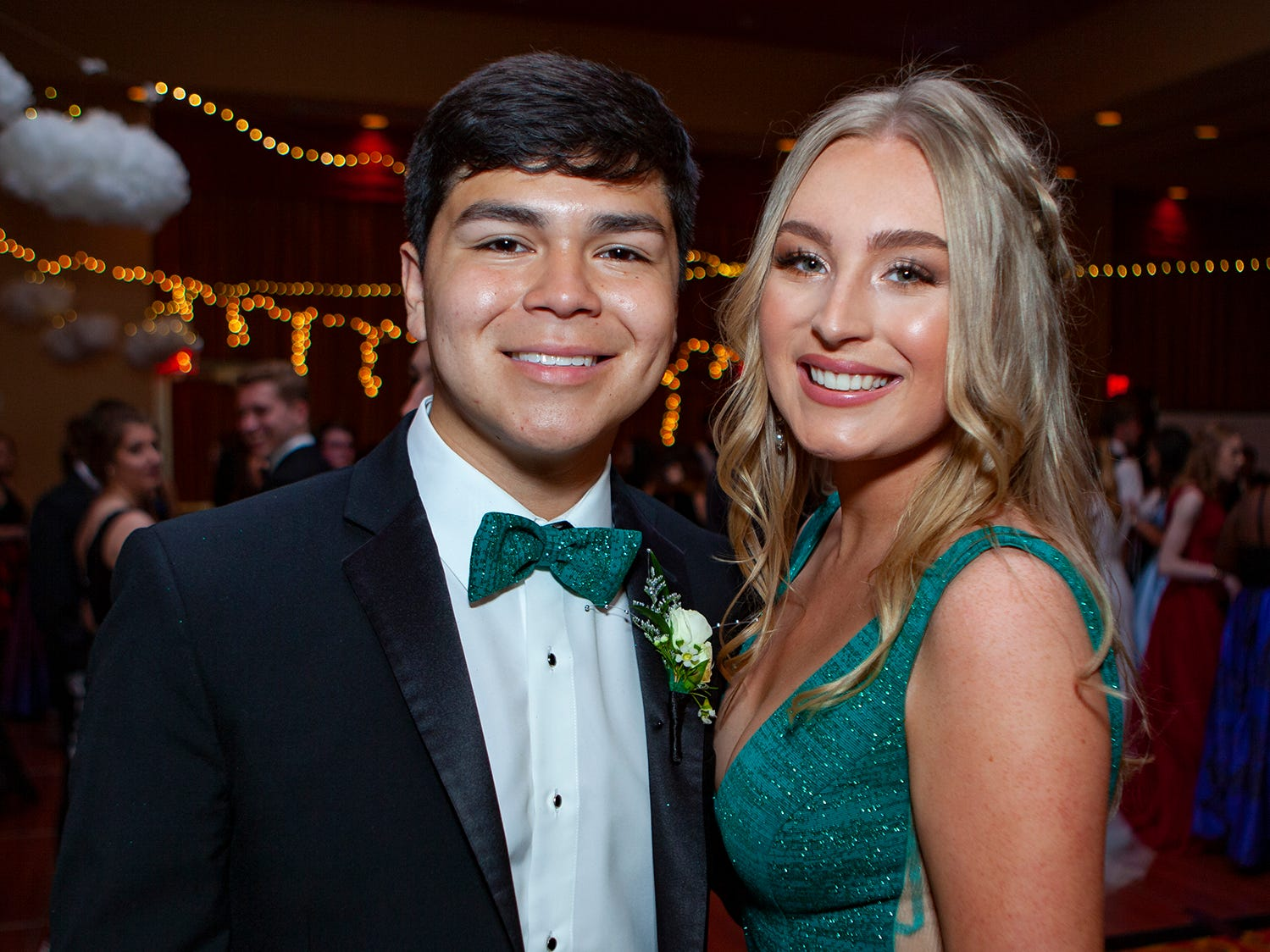 Andres Zaragoza and Piper Taylor at Central Magnet School's 2019 prom on Saturday, April 6 at Embassy Suites in Murfreesboro.