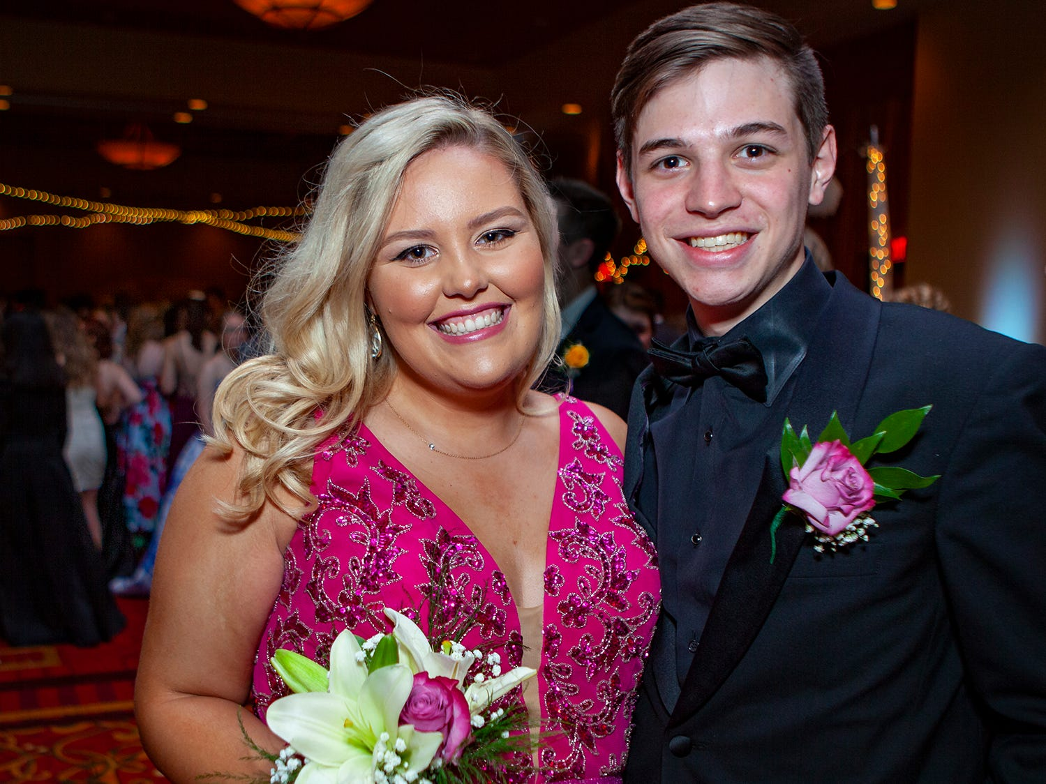 Mary Martha Wilson and Connor Smathers at Central Magnet School's prom Saturday, April 6, 2019 at Embassy Suites in Murfreesboro.
