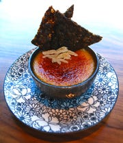 Ginger crème brulee at The Green Pheasant.