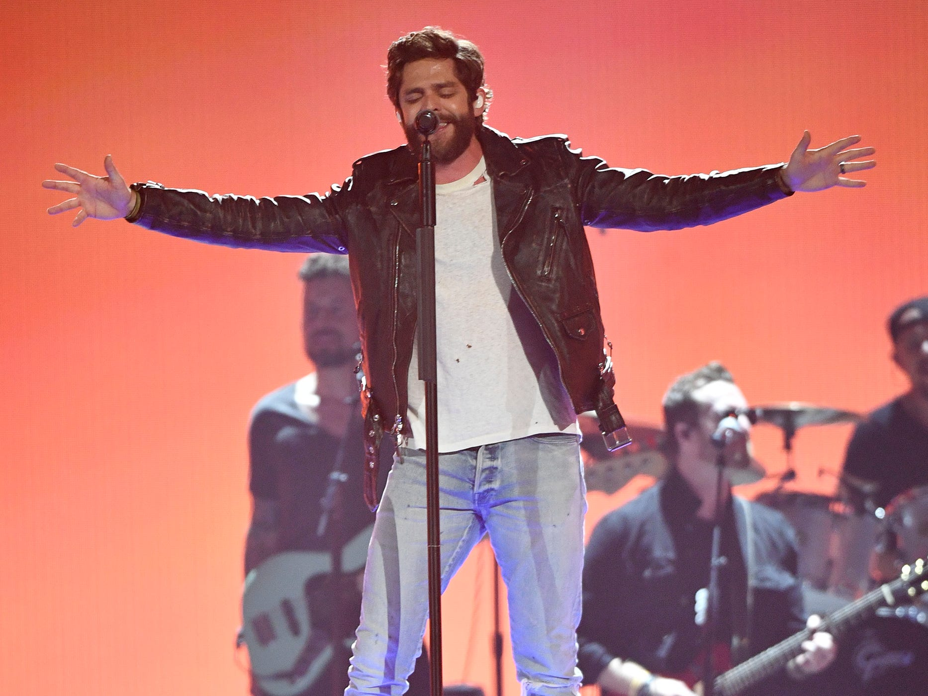 Thomas Rhett performs during the 54TH Academy of Country Music Awards Sunday, April 7, 2019, in Las Vegas, Nev.