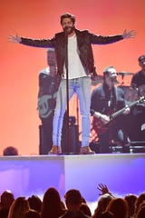 Thomas Rhett performs during the ACM Awards on April 7 in Las Vegas.