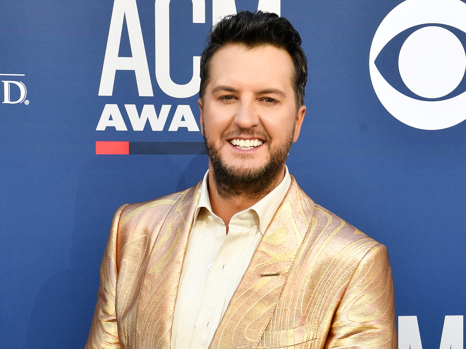 Luke Bryan walks the red carpet at the 54TH Academy of Country Music Awards Sunday, April 7, 2019, in Las Vegas, Nev.
