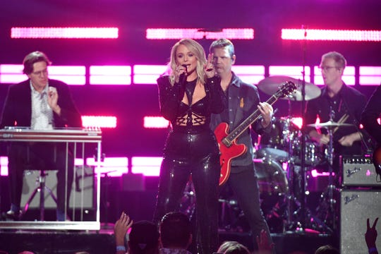 Miranda Lambert performs Sunday during the 54th Academy of Country Music Awards in Las Vegas.
