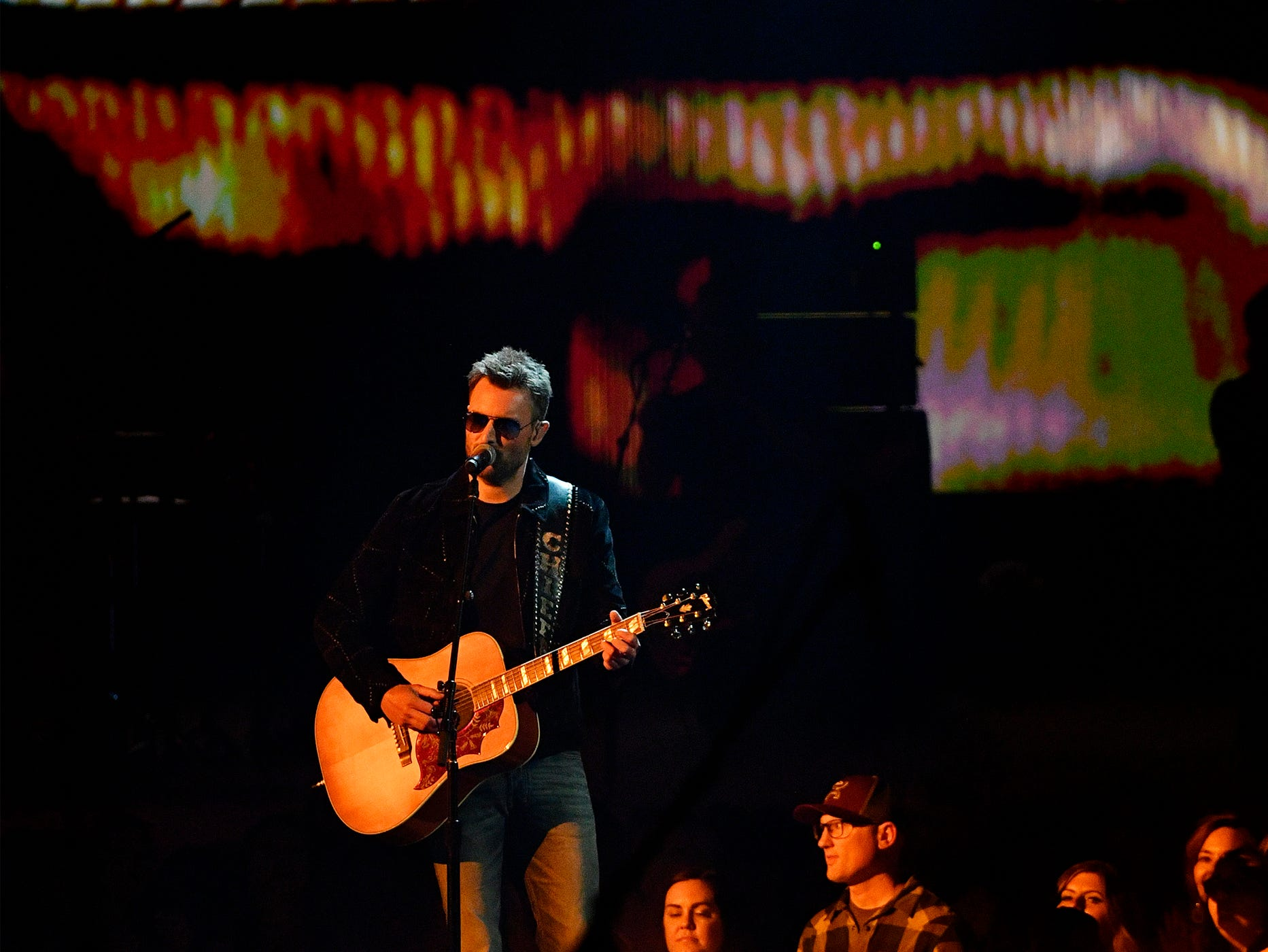 Eric Church performs during the 54TH Academy of Country Music Awards Sunday, April 7, 2019, in Las Vegas, Nev.