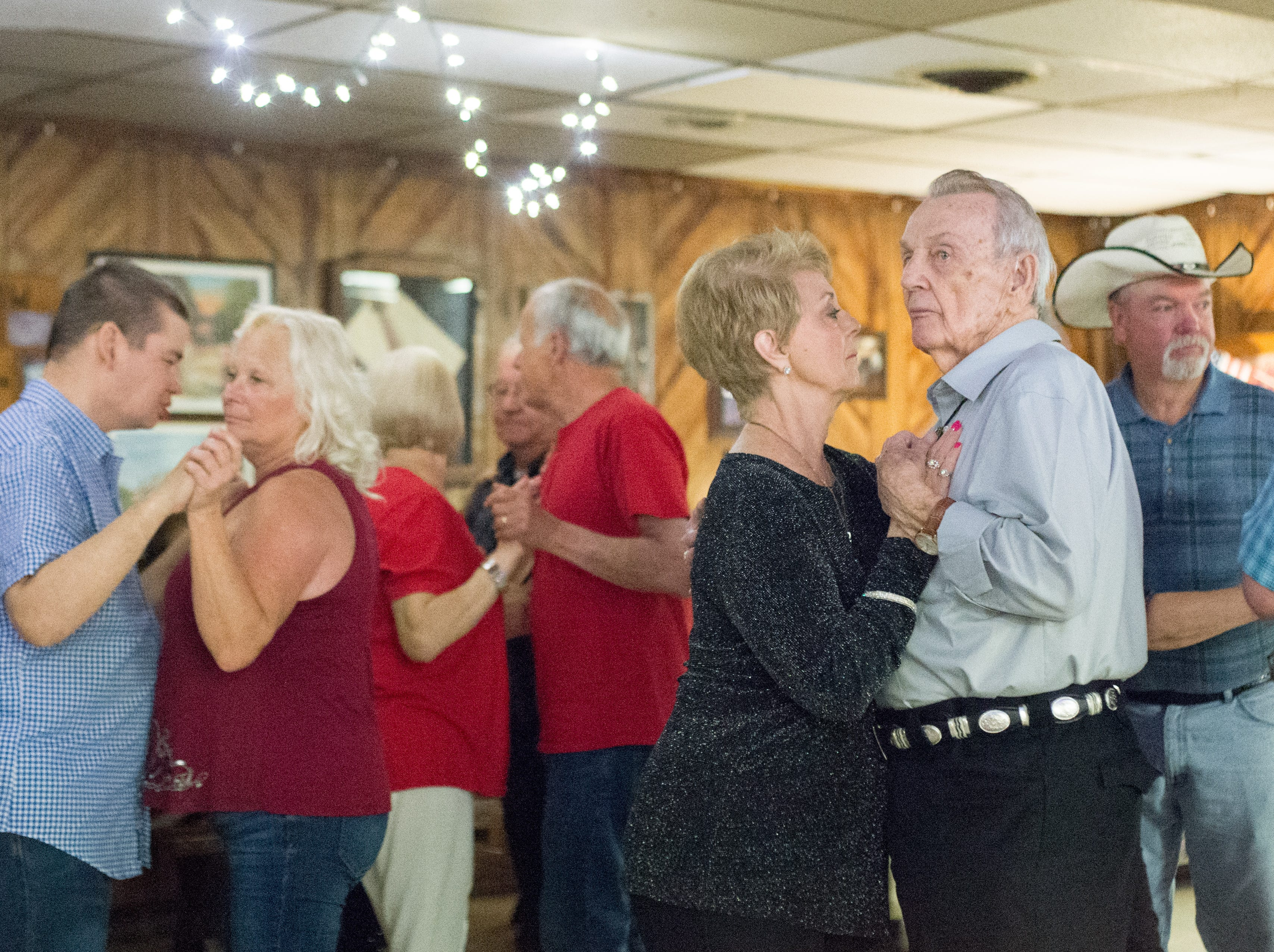 Attendees dance the night away at Long Hollow Jamboree in Goodlettsville on Saturday, April 7.