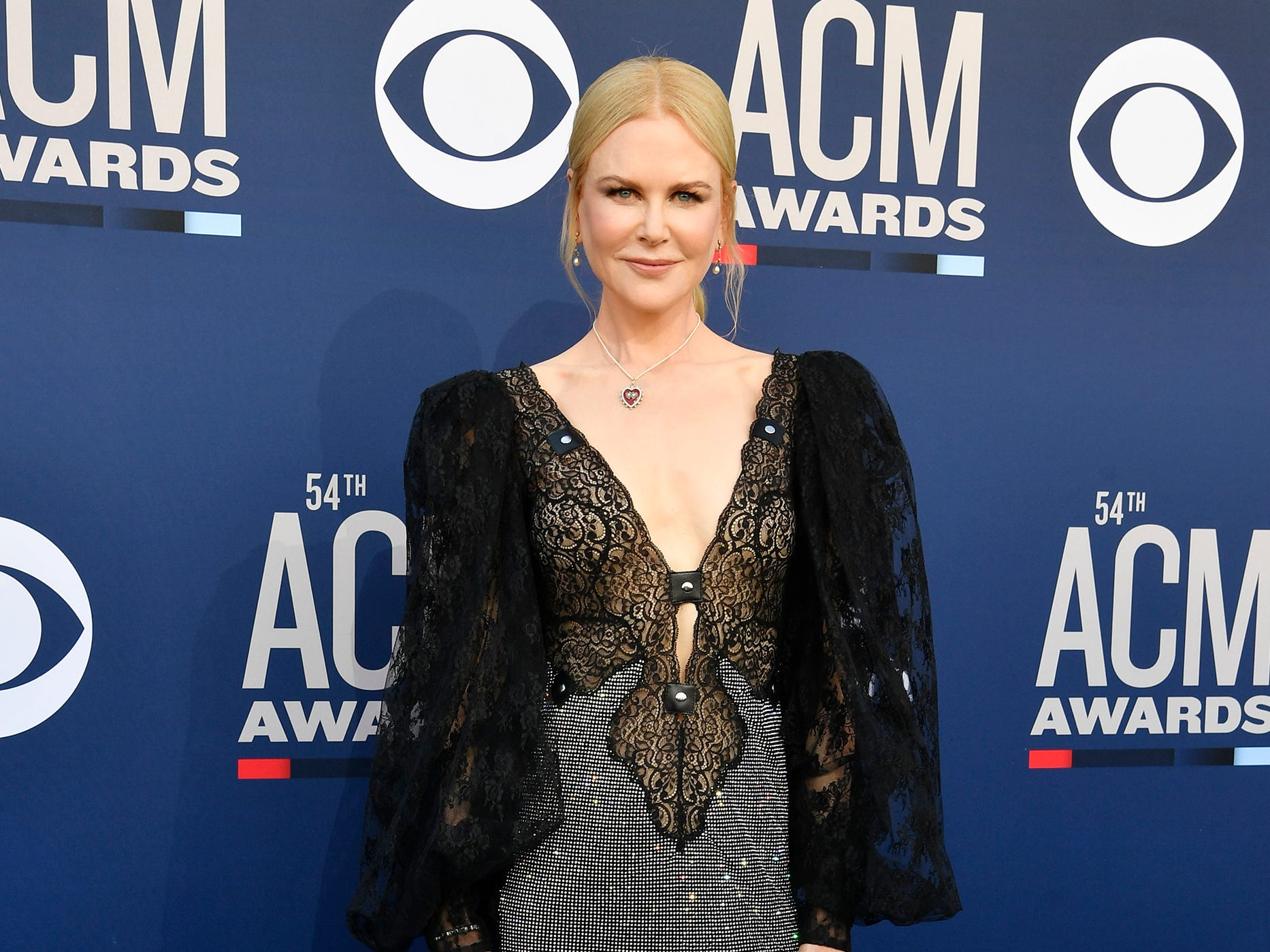 Nicole Kidman walks the red carpet at the 54TH Academy of Country Music Awards Sunday, April 7, 2019, in Las Vegas, Nev.
