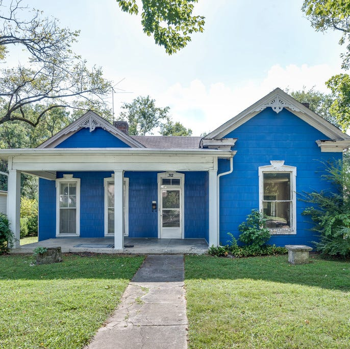 Historic Franklin's little blue house is on the market and ready for a renovation