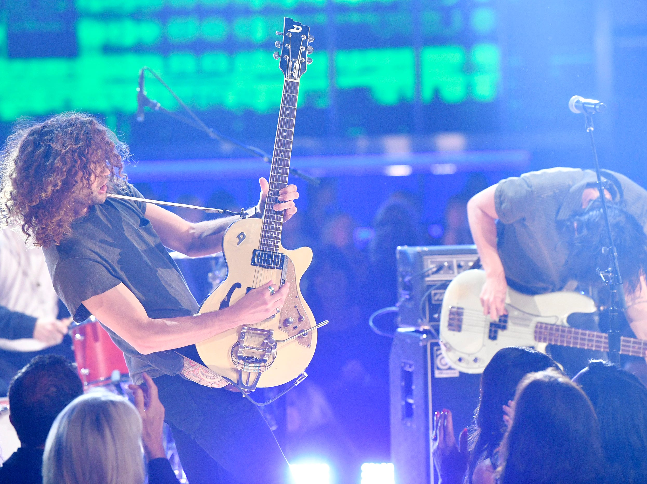 Music group Lanco performs during the 54TH Academy of Country Music Awards Sunday, April 7, 2019, in Las Vegas, Nev.