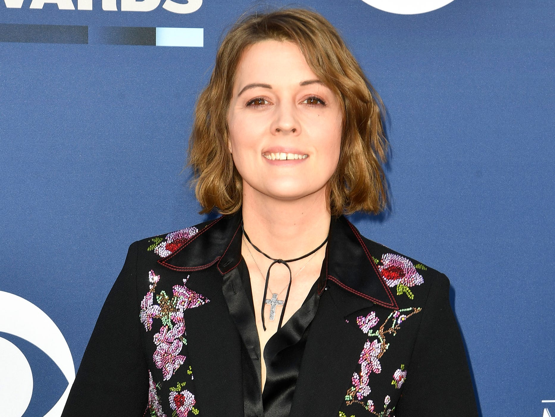 Brandi Carlile walks the red carpet at the 54TH Academy of Country Music Awards Sunday, April 7, 2019, in Las Vegas, Nev.
