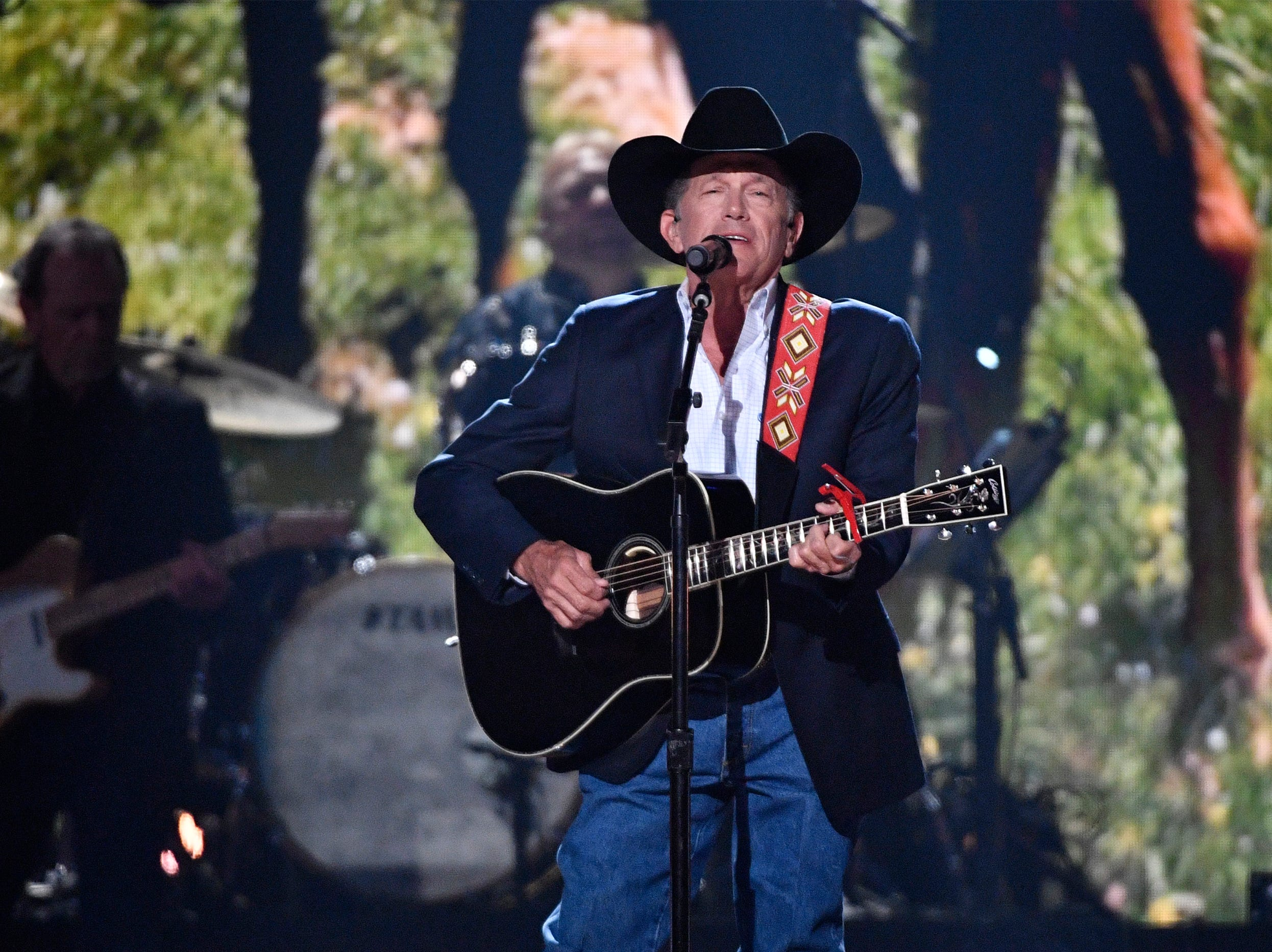 George Strait performs at the 54TH Academy of Country Music Awards Sunday, April 7, 2019, in Las Vegas, Nev.