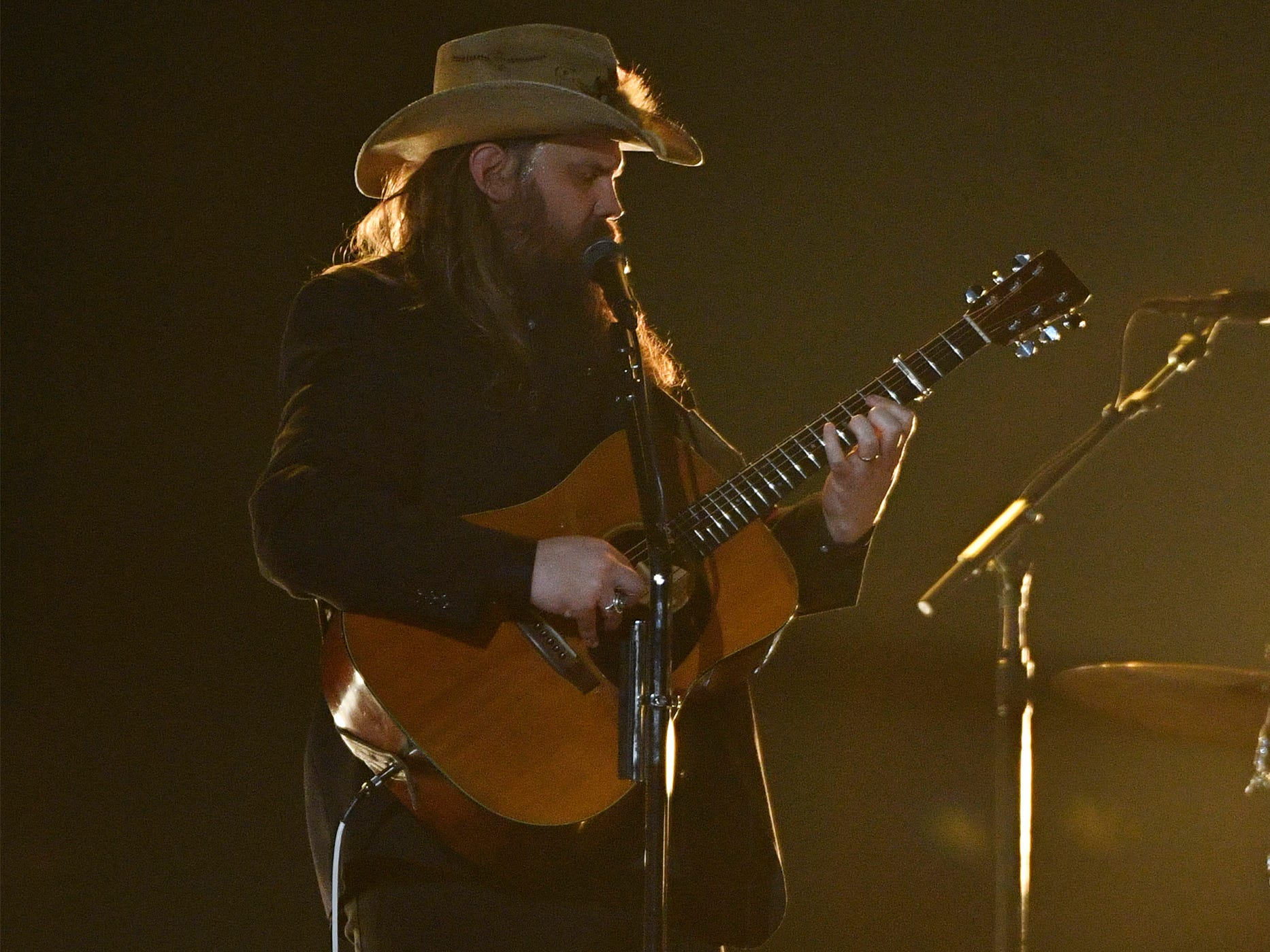 Chris Stapleton performs during the 54TH Academy of Country Music Awards Sunday, April 7, 2019, in Las Vegas, Nev.