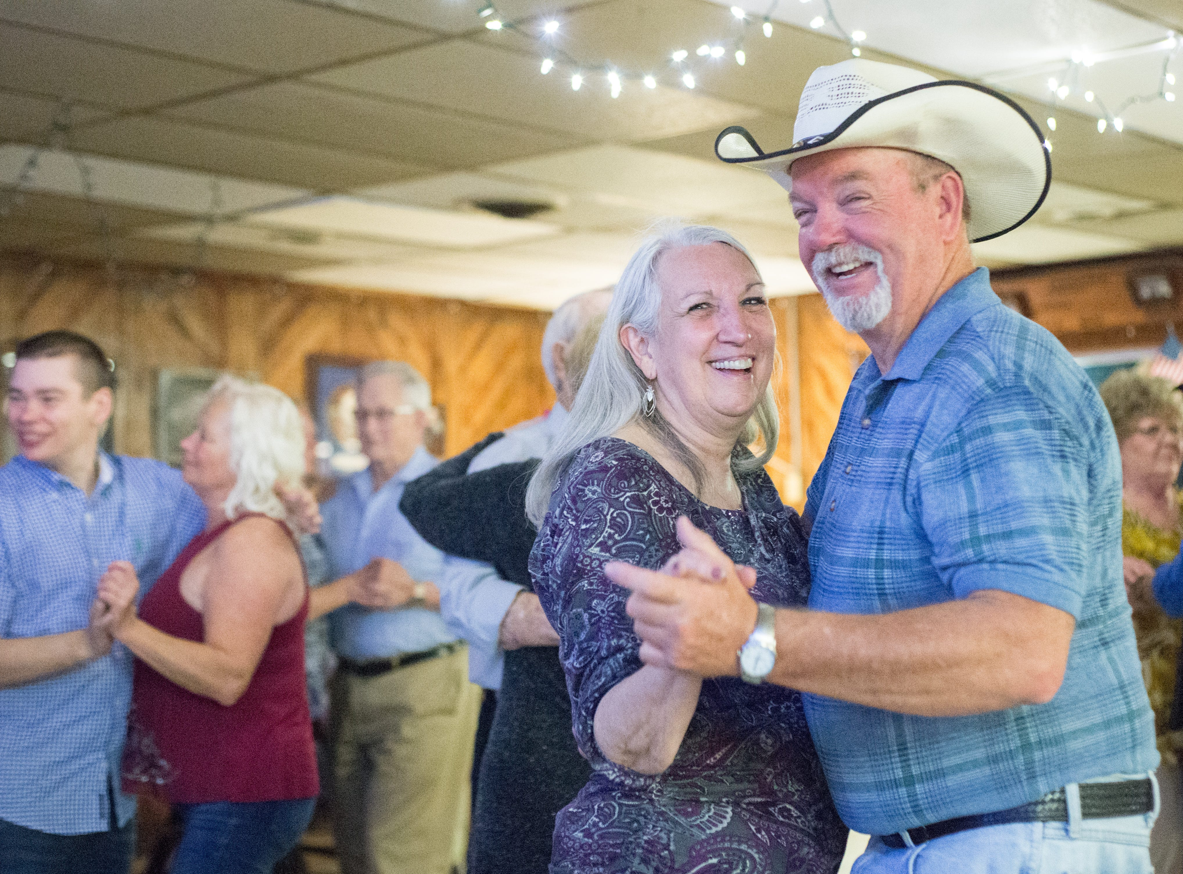 Wanda Proctor and Bobby Gash enjoy a dance during a performance of the Blue Creek Band at Long Hollow Jamboree in Goodlettsville on Saturday, April 7.