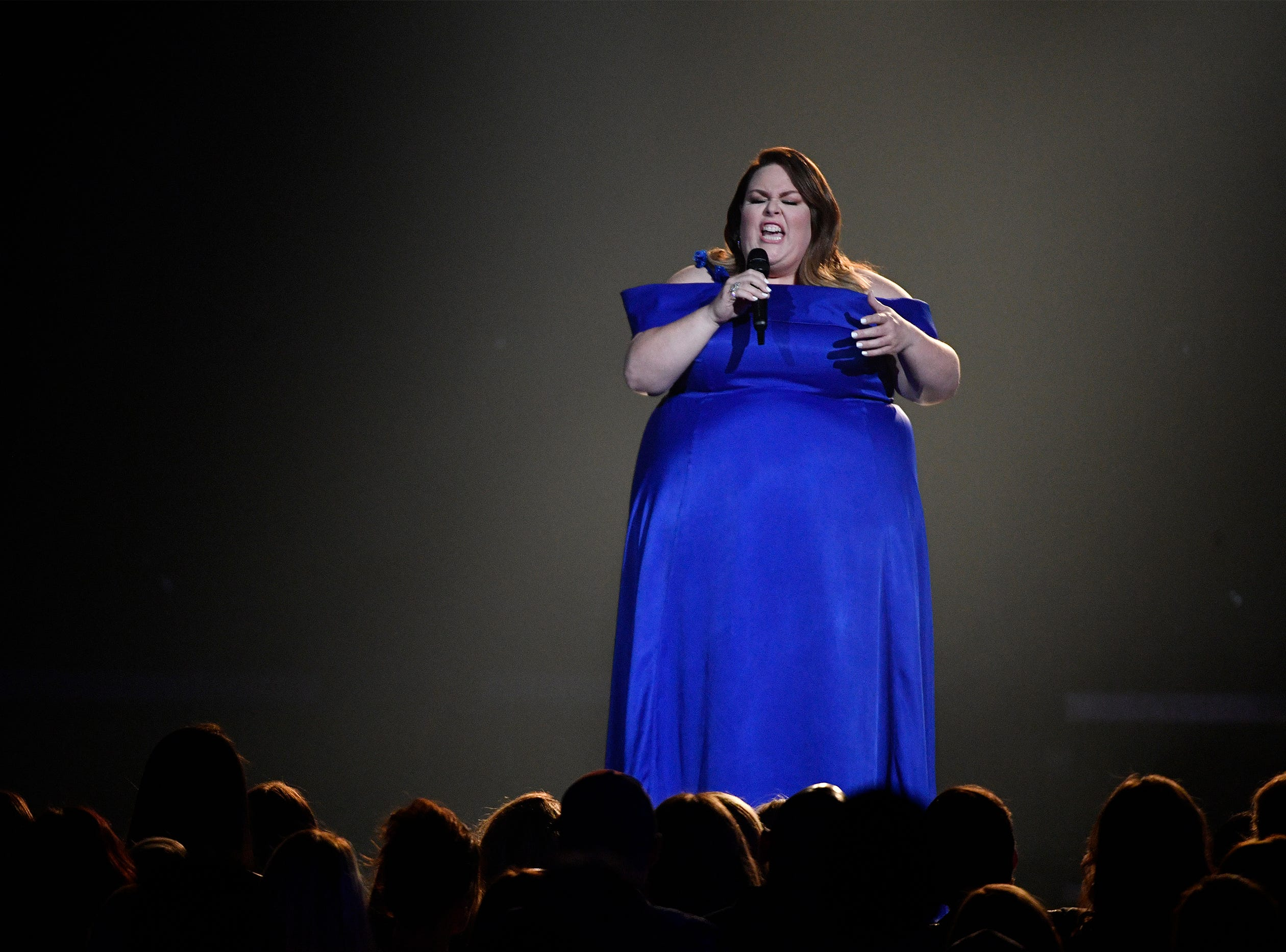 Chrissy Metz performs during the 54TH Academy of Country Music Awards Sunday, April 7, 2019, in Las Vegas, Nev.