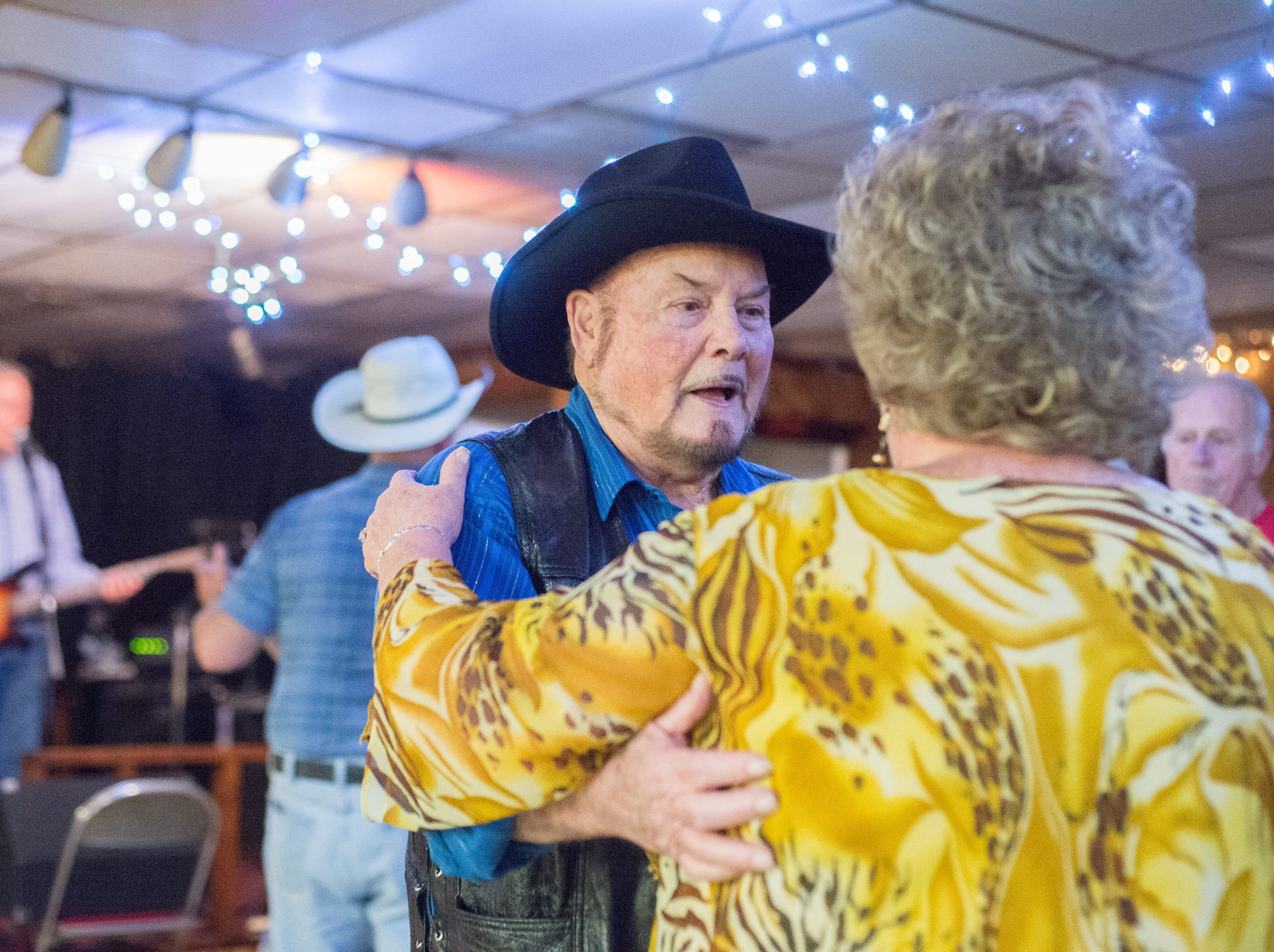 Woody Barber and Lois Binkley enjoy dancing during a performance of the Blue Creek Band at Long Hollow Jamboree in Goodlettsville on Saturday, April 7.
