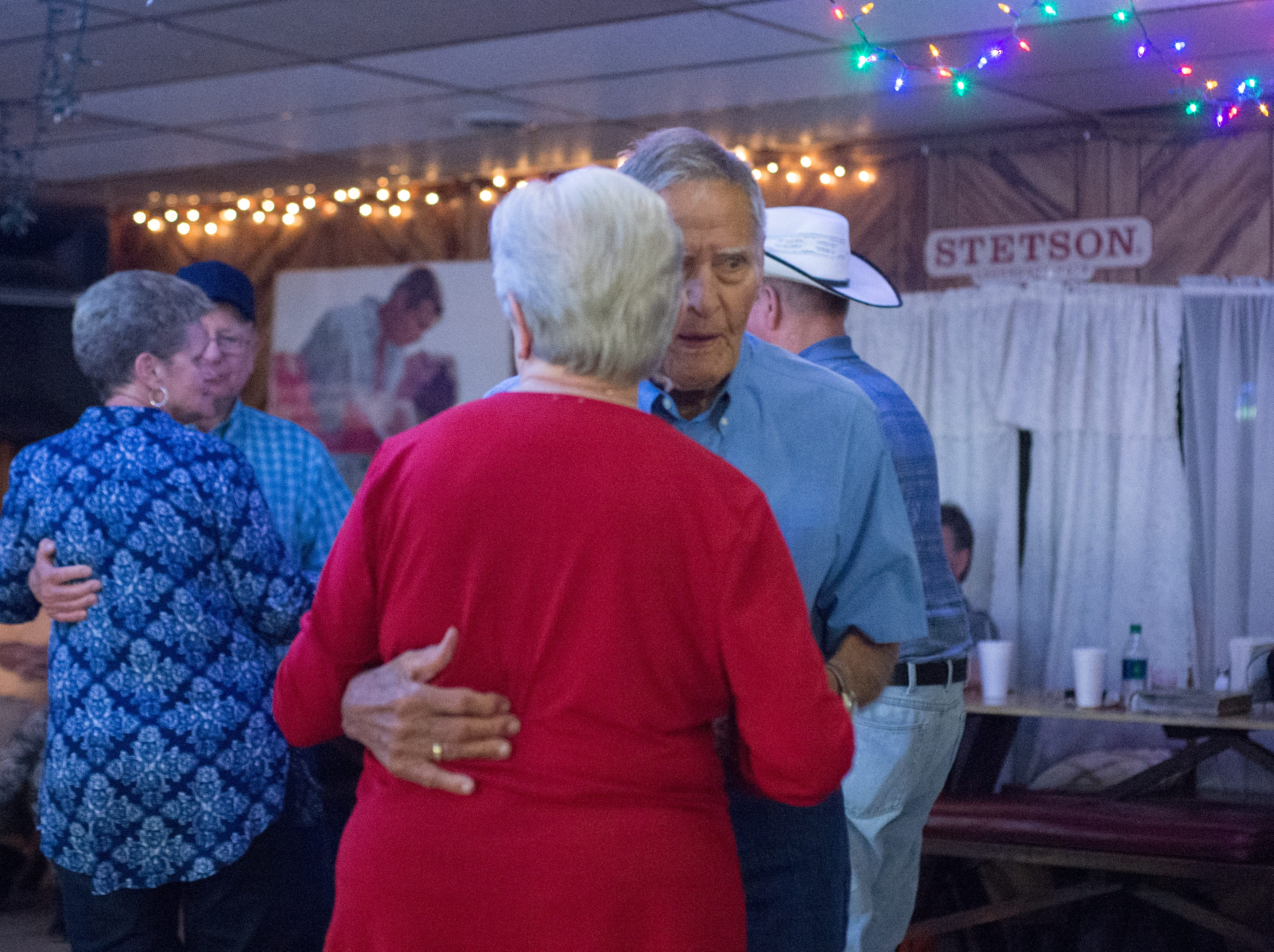 Bobbie Barnes and Willie Martin enjoy a dance at Long Hollow Jamboree in Goodlettsville on Saturday, April 7.