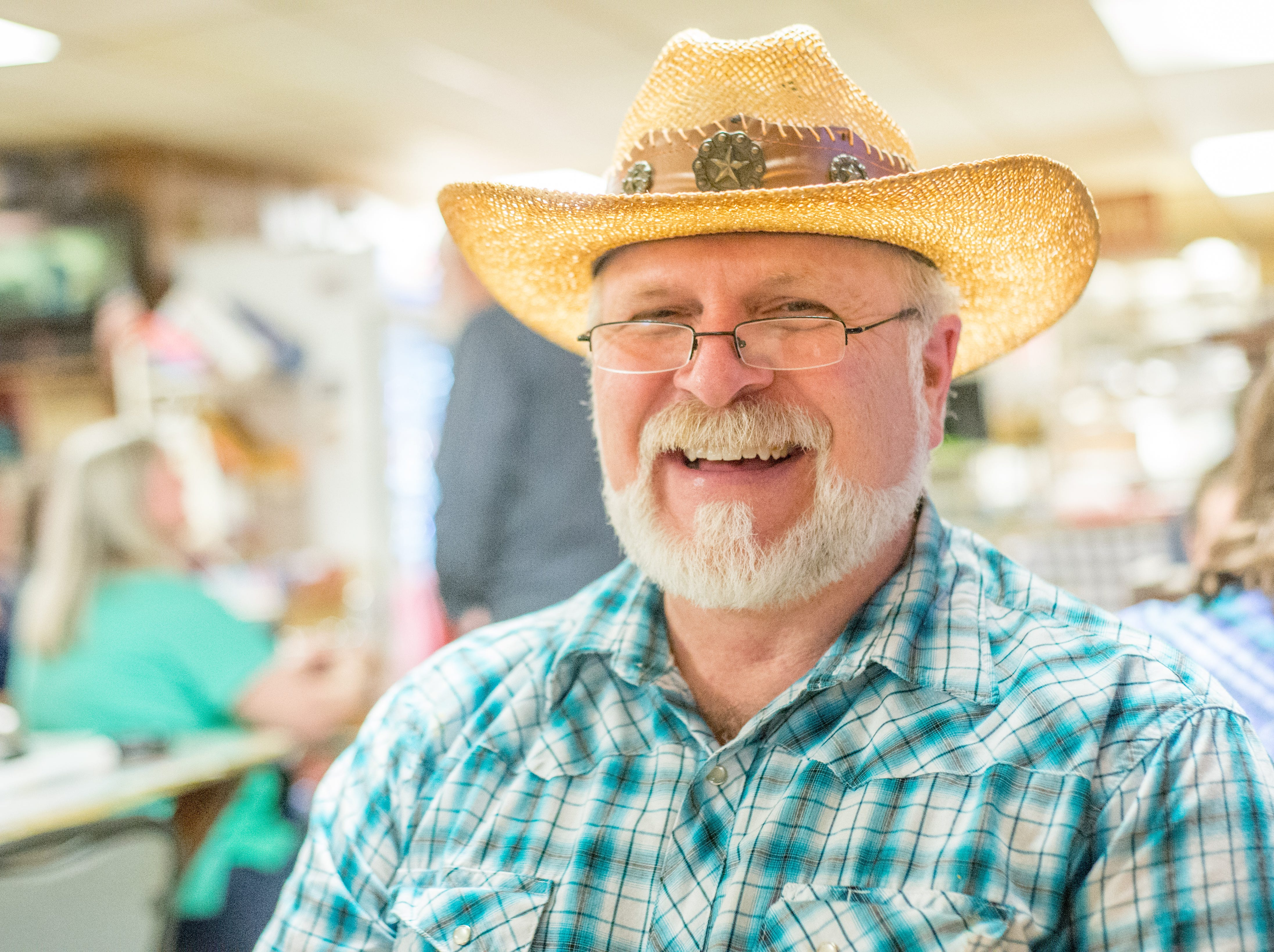 Johnny G. Moore enjoys time at the Long Hollow Jamboree in Goodlettsville on Saturday, April 7.