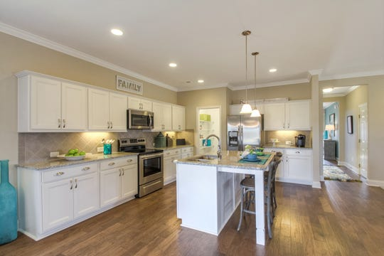 Homes in Goodall Homes' Summerlin subdivision in White House have open floor plans and kitchens with islands.