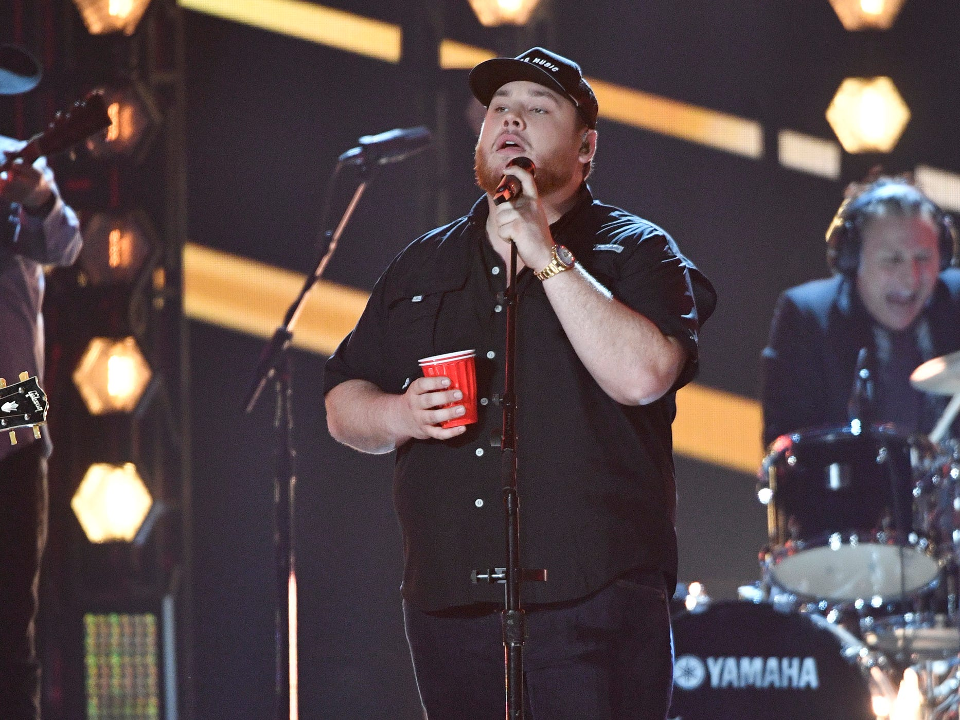 Luke Combs performs during the 54TH Academy of Country Music Awards Sunday, April 7, 2019, in Las Vegas, Nev.