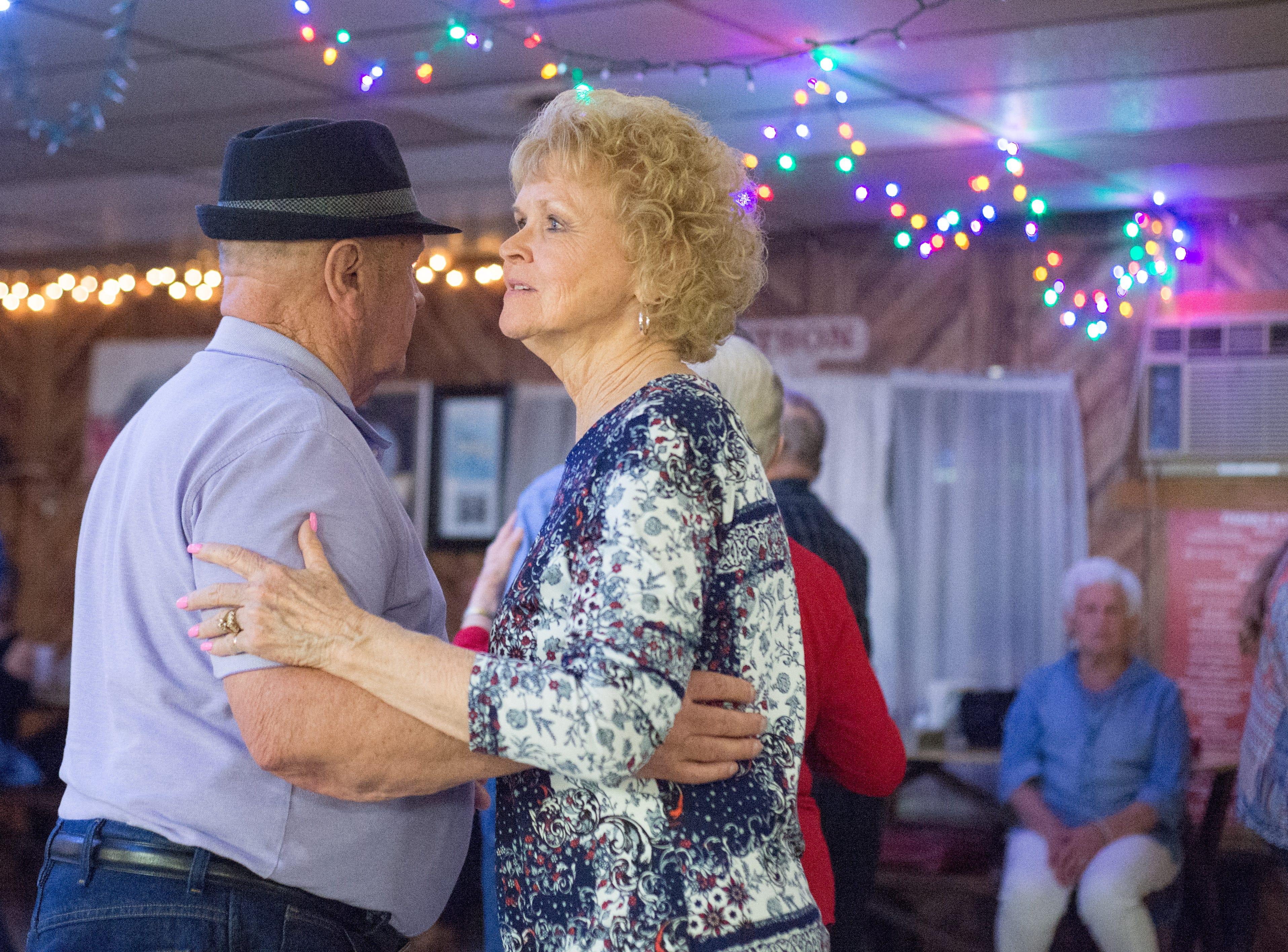 Peggy Christian (right) enjoys to dance at Long Hollow Jamboree in Goodlettsville on Saturday, April 7.
