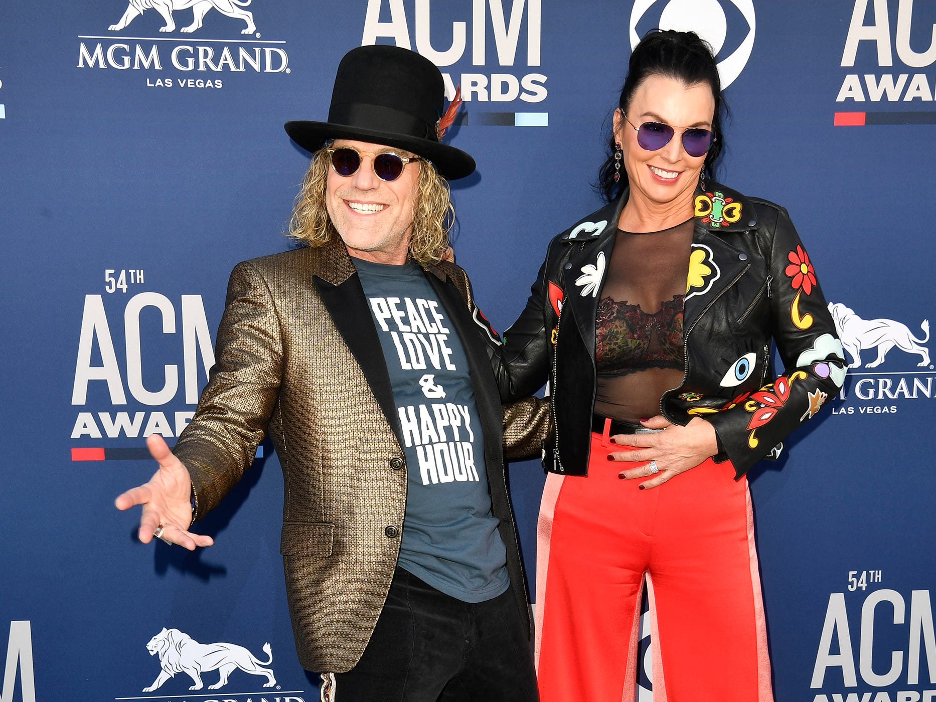 Big Kenny, left, with Christiev Carothers, walk the red carpet at the 54TH Academy of Country Music Awards Sunday, April 7, 2019, in Las Vegas, Nev.