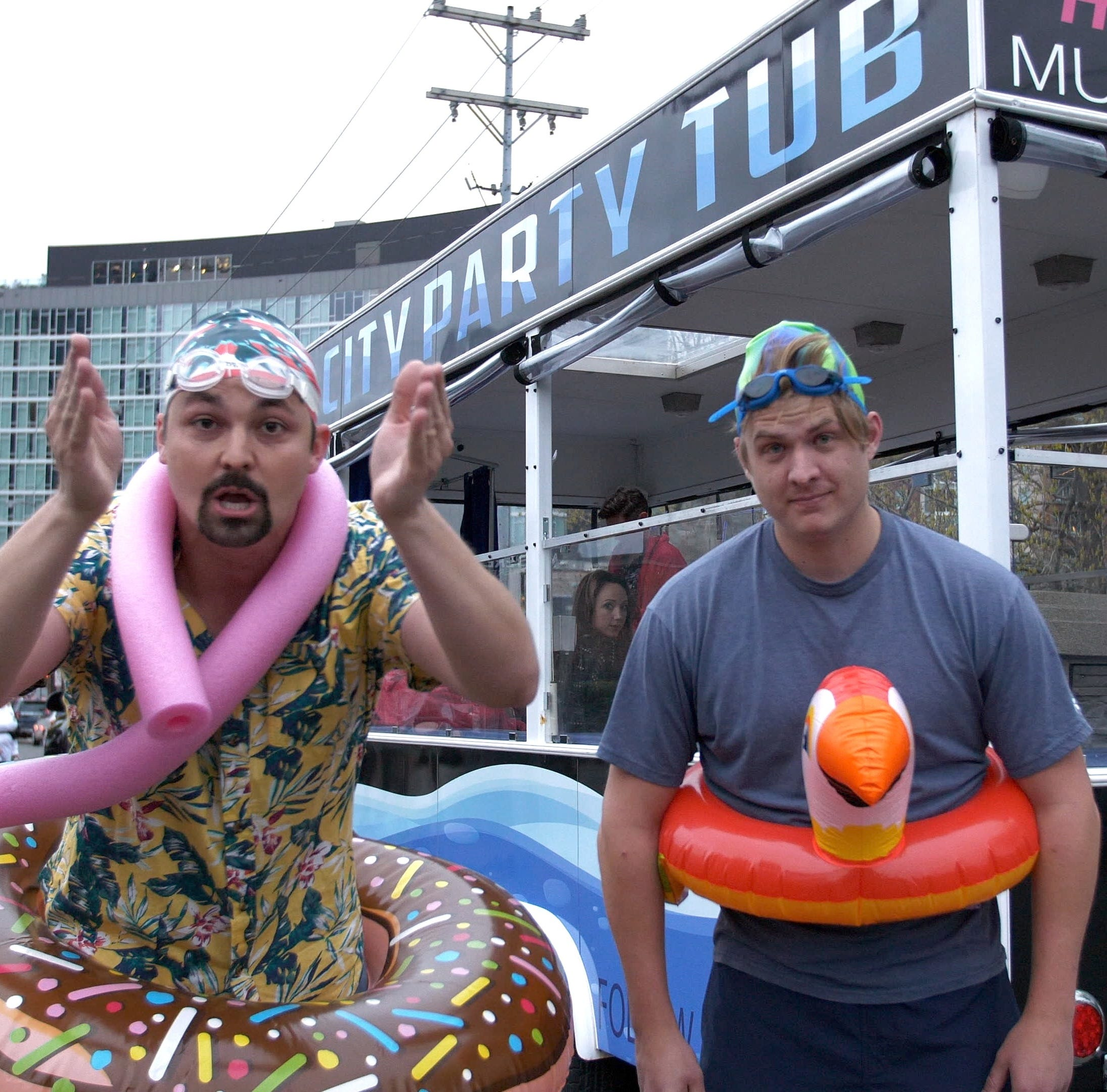 A BYOB hot tub on wheels is downtown Nashville's newest party vehicle