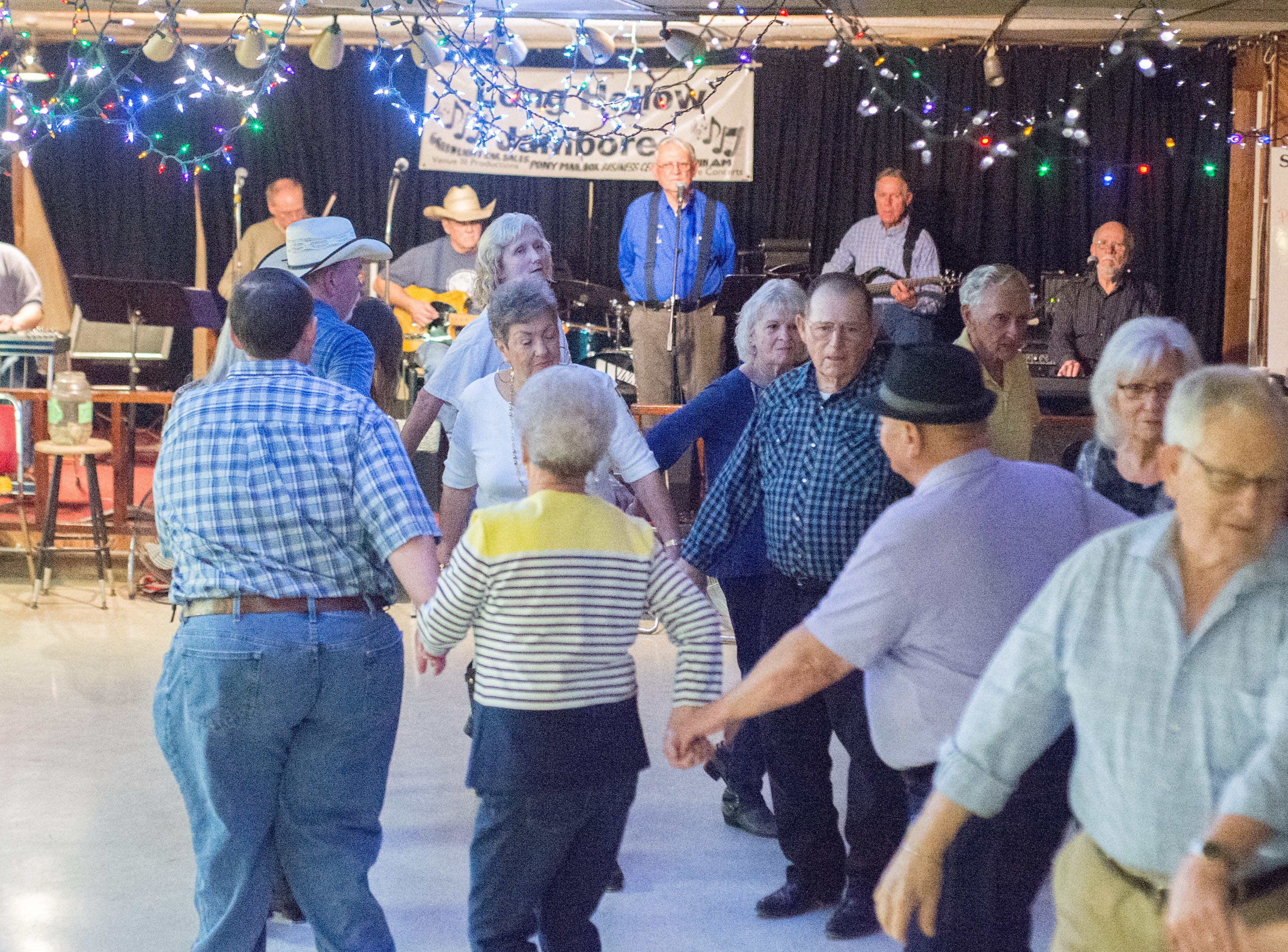 The Blue Creek Band keeps the crowd dancing at Long Hollow Jamboree in Goodlettsville on Saturday, April 7.