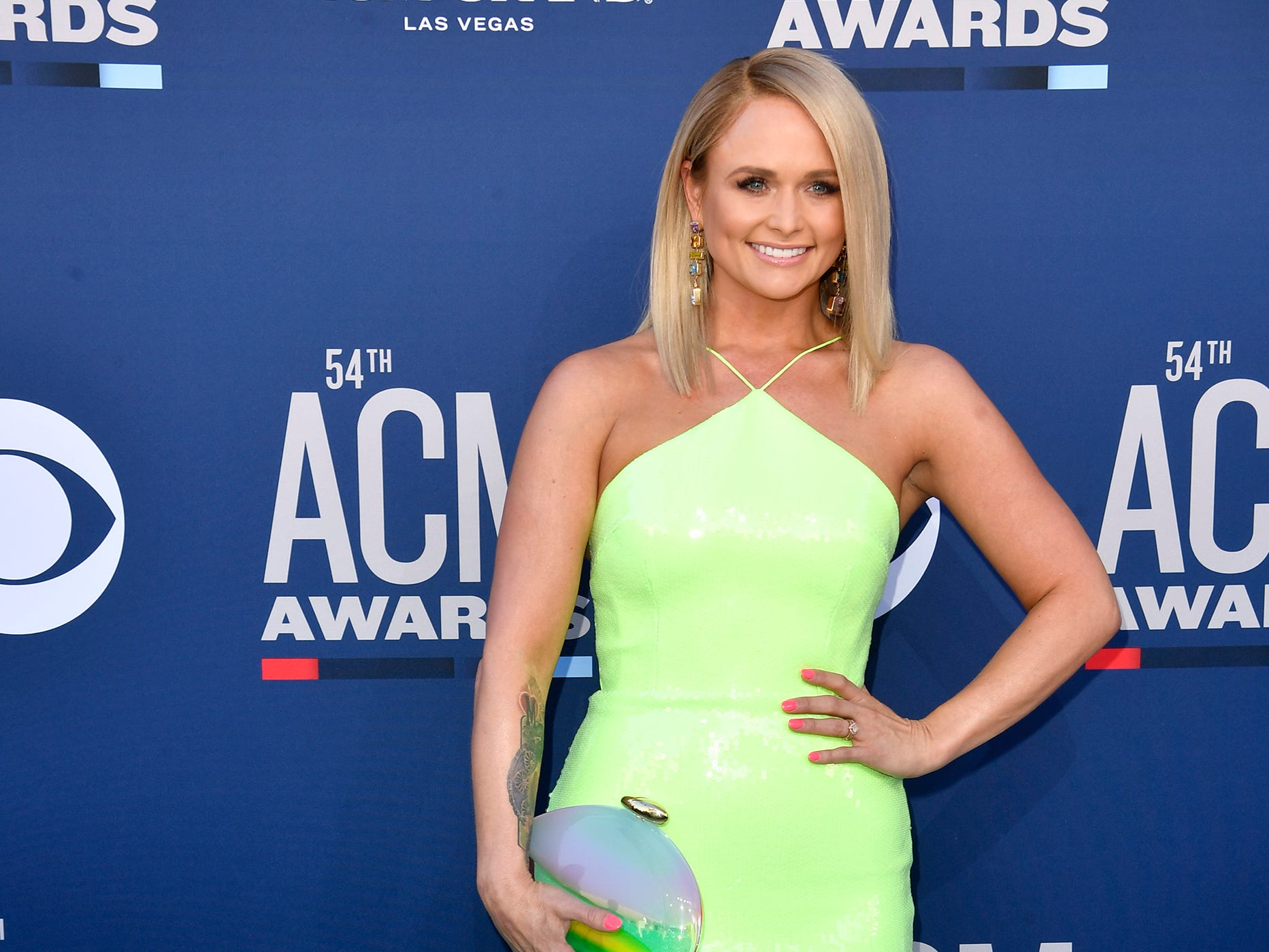 Miranda Lambert walks the red carpet at the 54TH Academy of Country Music Awards Sunday, April 7, 2019, in Las Vegas, Nev.