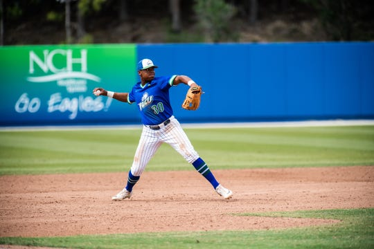 FGCU senior Jay Hayes is tied for the team lead in batting .375 and leads the Eagles in homers (7) and RBIs (36) heading into their game against the University of Miami on Wednesday at Swanson Stadium.
