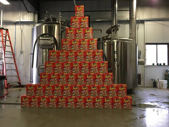The Yabba Dabba Brew includes 96 boxes of Fruity Pebbles in its creation.