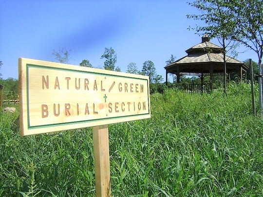 Green burial section at the Maryrest Cemetery in Mahwah