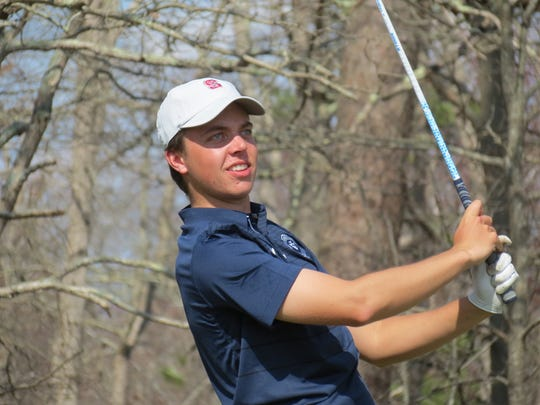 St. Augustine's Drue Nicholas won the individual title at the Garden State Cup at Blue Heron Pines Golf Club in Galloway Township on Monday, April 8, 2019.