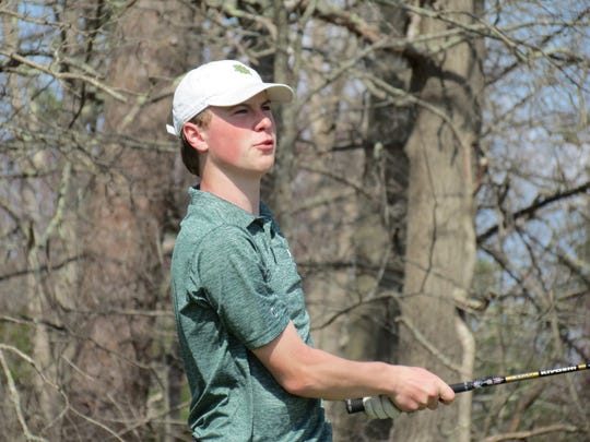 Joseph Furlong helped Midland Park finish third among 20 teams at the Garden State Cup golf tournament at Blue Heron Pines Golf Club in Galloway Township on Monday, April 8, 2019