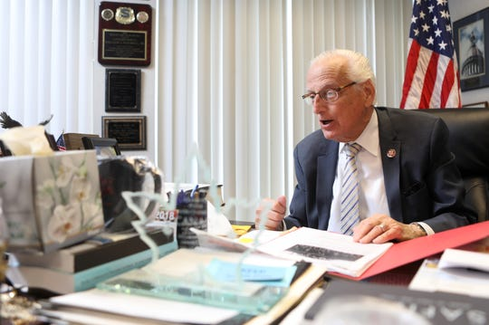 Congressman Bill Pascrell Jr. speaks to The Record from his Paterson office about white supremacy and other threats to America. Monday, April, 8, 2019