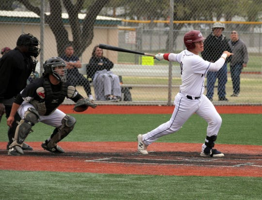 Senior Wildcat Robert Ruiz lashed out with a solo home run during Deming's 7-2 loss to the Onate Knights.