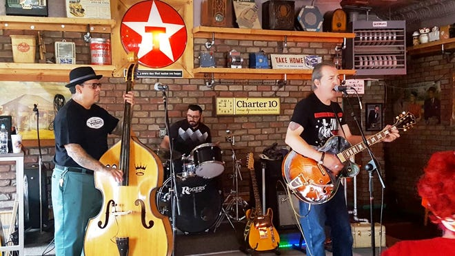 Blusin' it Chris Smith and the Rockabilly Strangers will kick off the sixth annual Red, White and Blues Festival at St. Clair Winery and Bistro Saturday, April 20.