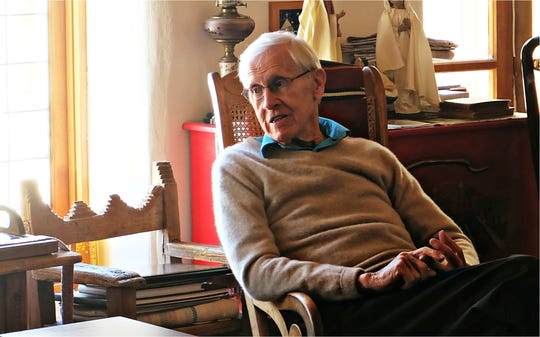J.Paul Taylor at his home. Taylor, a respected former educator and New Mexico legislator, is the founder of the annual J. Paul Taylor Social Justice Symposium.