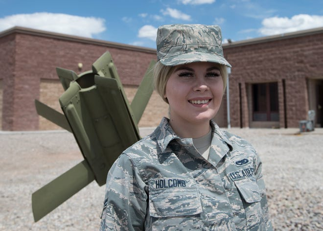 Airman 1st Class Alicia Holcomb, 49th Equipment Maintenance Squadron's munitions systems specialist, poses for a photo on Holloman Air Force Base, N.M. Airman 1st Class Alicia Holcomb, 49th Equipment Maintenance Squadron's munitions systems specialist, poses for a photo on Holloman Air Force Base, N.M. Holcomb's journey with Holloman's Alcohol and Drug Abuse and Prevention Treatment program has not been perfect, but she continues to persevere in times of weakness so she can complete her program this summer.