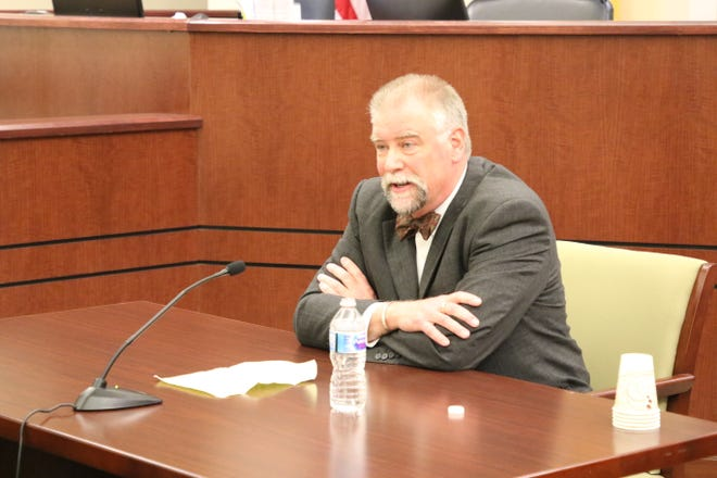 Attorney Curtis Gurley is interviewed by the Eleventh Judicial District Judicial Nominating Commission on the morning of March 8, 2019, in the Aztec District Court building. He was appointed to the vacant Division 4 district judge seat for the 11th Judicial District by Gov. Michelle Lujan Grisham.