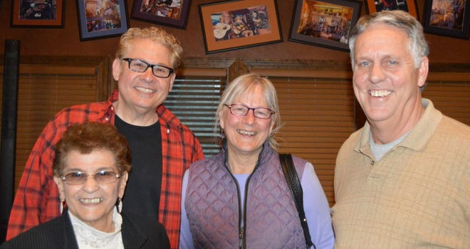Richard Cintron, back left, was elected new chairman of the Lincoln County Democrat Party. Other officers selected are from left, Treasurer Alice Lopez, Secretary Linda Perkins and second Vice Chairman Kible Kearns.